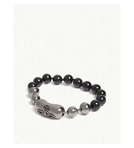 VIVIENNE WESTWOOD Marwan onyx bracelet (Onyx+black