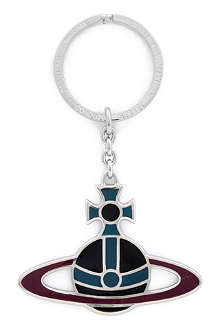 VIVIENNE WESTWOOD Plique plated orb key ring
