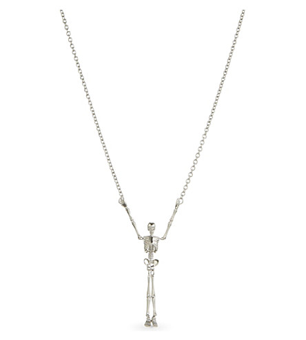 VIVIENNE WESTWOOD Long skeleton necklace (Black