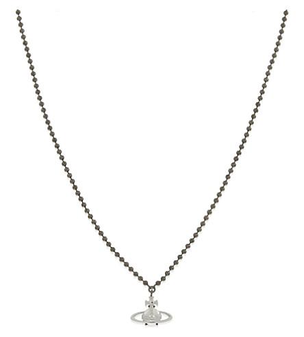 VIVIENNE WESTWOOD Suzon pewter necklace (Black+ruthenium+rhodium