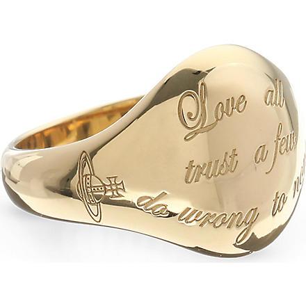 VIVIENNE WESTWOOD William ring (Gold