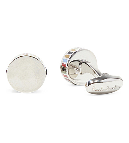 PAUL SMITH ACCESSORIES Round striped cufflinks (Multi