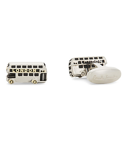 PAUL SMITH London bus cufflinks (Silver+brass