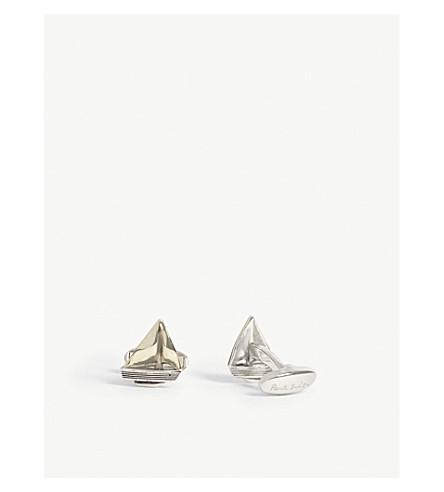 PAUL SMITH ACCESSORIES Sail boat cufflinks (Silver+brass