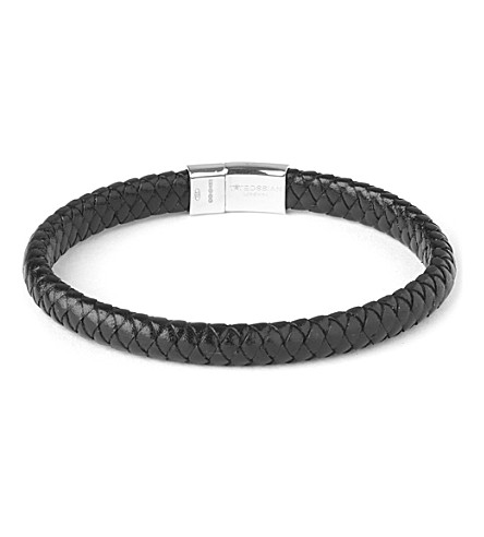 TATEOSSIAN Leather cobra bracelet (Black