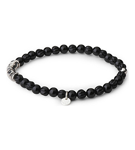 TATEOSSIAN Silver disc beaded bracelet (Black