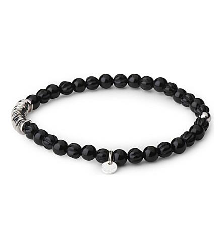 TATEOSSIAN Silver disc beaded bracelet (Black