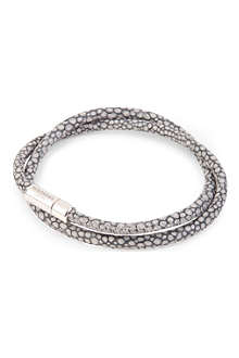TATEOSSIAN Scoubidou stingray-print leather bracelet