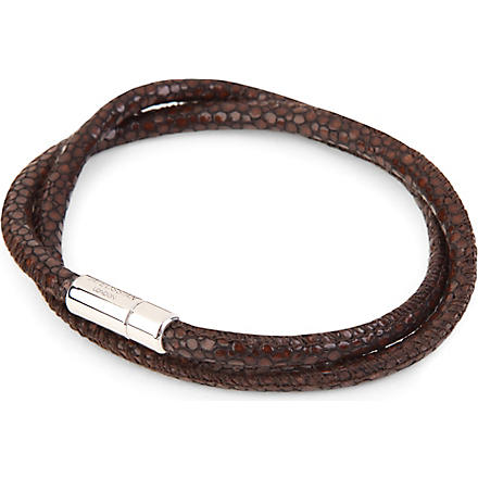 TATEOSSIAN Scoubidou stingray-print leather bracelet (Brown