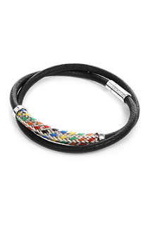 TATEOSSIAN Woven-band leather bracelet