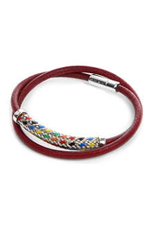 TATEOSSIAN Woven-band leather braclet
