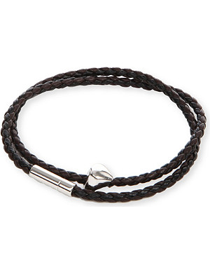 TATEOSSIAN Silver pop scoubidou leather bracelet