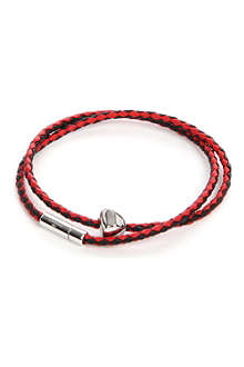 TATEOSSIAN Double-wrap leather bracelet