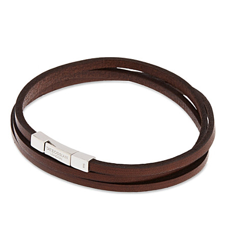 TATEOSSIAN Leather double-wrap bracelet (Brown