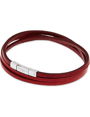 TATEOSSIAN Leather double wrap bracelet
