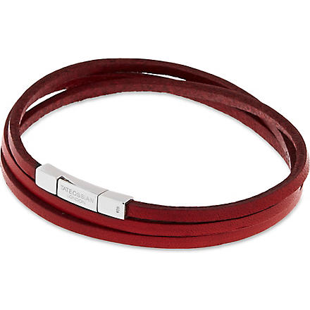 TATEOSSIAN Leather double wrap bracelet (Red