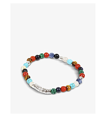TATEOSSIAN Silver disc beaded bracelet (Multi