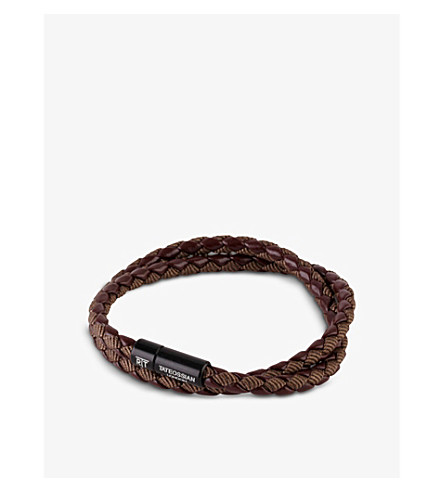TATEOSSIAN Chelsea leather double-wrap bracelet (Brown