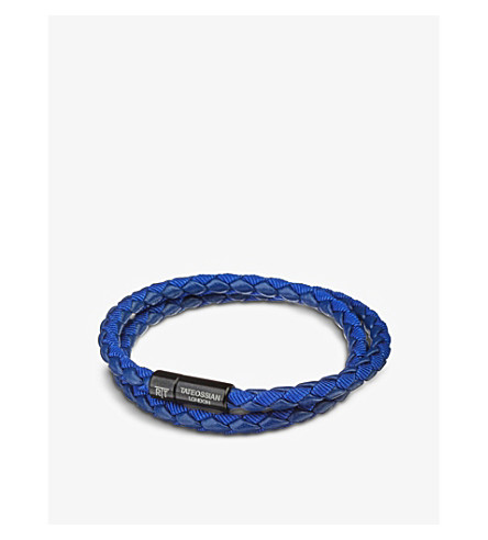 TATEOSSIAN Chelsea leather double-wrap bracelet (Blue