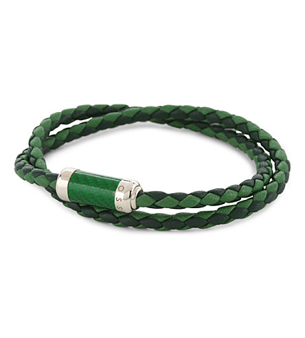 TATEOSSIAN Montecarlo woven leather bracelet (Green