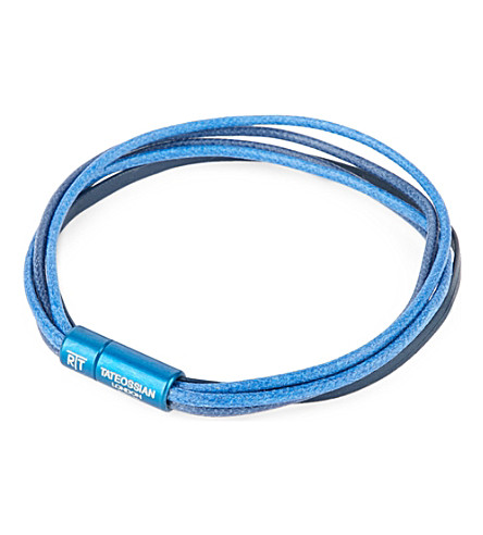 TATEOSSIAN Multi-strand leather and cord bracelet (Blue