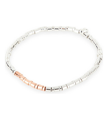 TATEOSSIAN Bamboo sterling silver and rose gold-plated bracelet (Rgold+rhod