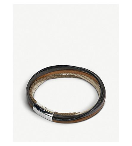 TATEOSSIAN Cobra multi-strand leather bracelet (Stone