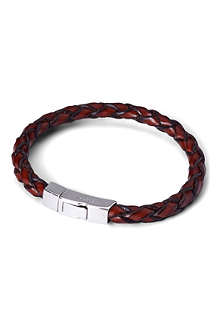 TATEOSSIAN Scoubidou single loop leather bracelet