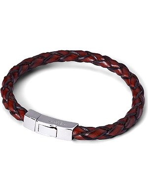 TATEOSSIAN Scoubidou leather bracelet with silver clasp