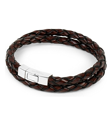 TATEOSSIAN Scoubidou leather bracelet (Brown