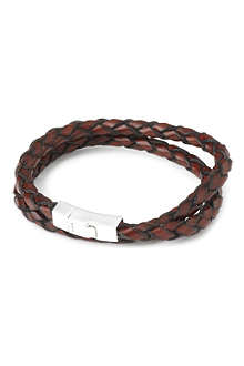 TATEOSSIAN Scoubidou double loop leather bracelet