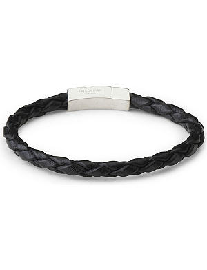 TATEOSSIAN Braided leather scoubidou bracelet