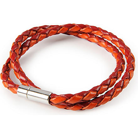 TATEOSSIAN Scoubidou Pop Tube bracelet (Red/orange