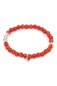 TATEOSSIAN Carnelian and silver disc bracelet