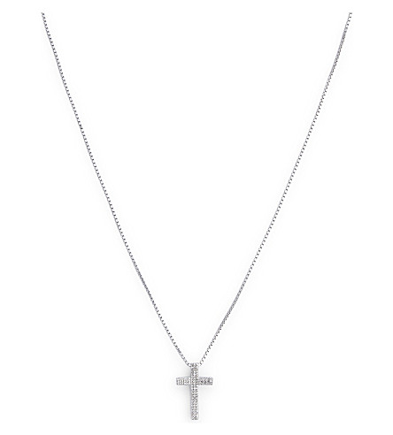 TATEOSSIAN Cross 0.35ct white diamonds necklace (White