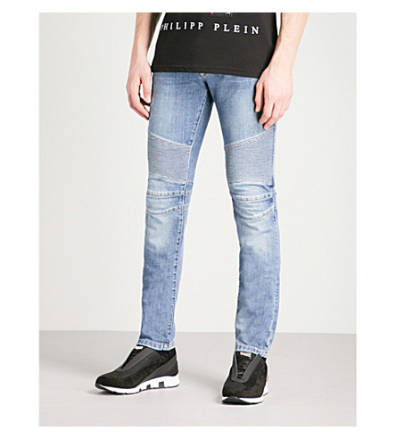 PHILIPP PLEIN Biker regular-fit straight jeans (Blue