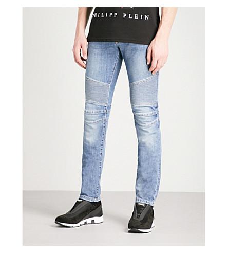 PHILIPP PLEIN Biker regular-fit straight jeans (Blue