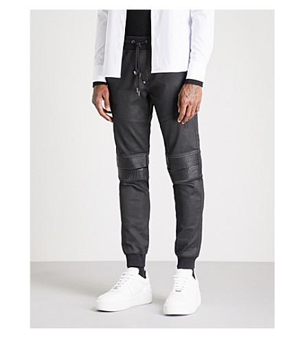 PHILIPP PLEIN 勇敢镶板休闲版型牛仔慢跑裤 (a 座)