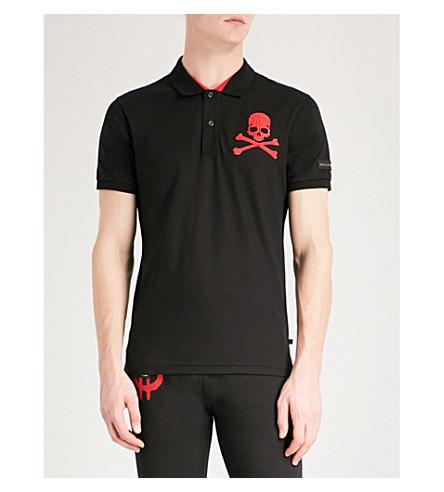 PHILIPP PLEIN 头骨和骷髅-打印棉何塞普·皮克马球衫 (一级 + 红色