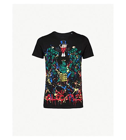 PHILIPP PLEIN Monopoli AL cotton-jersey T-shirt (Blk