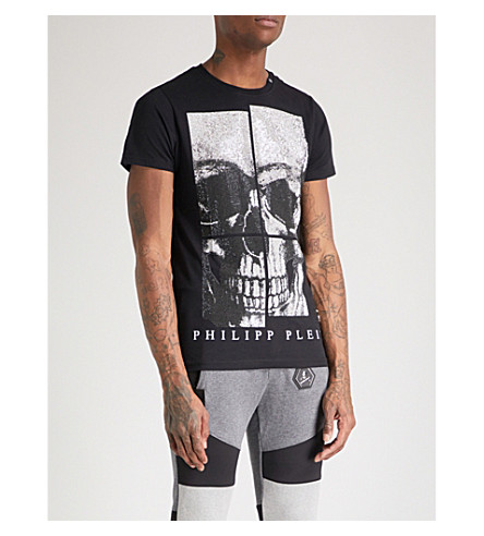 PHILIPP PLEIN Skull cotton-jersey T-shirt (Blk