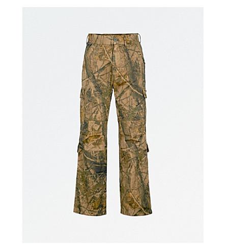 YEEZY Season 5 straight cotton cargo trousers (Khaki