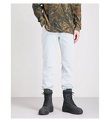 YEEZY Season 5 regular-fit tapered jeans (Faded+indigo