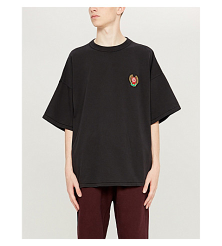 YEEZY Season 5 patch appliqué cotton-jersey T-shirt (Ink