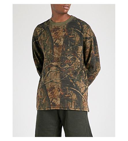 YEEZY Season 5 Wolves cotton-jersey sweatshirt (Khaki