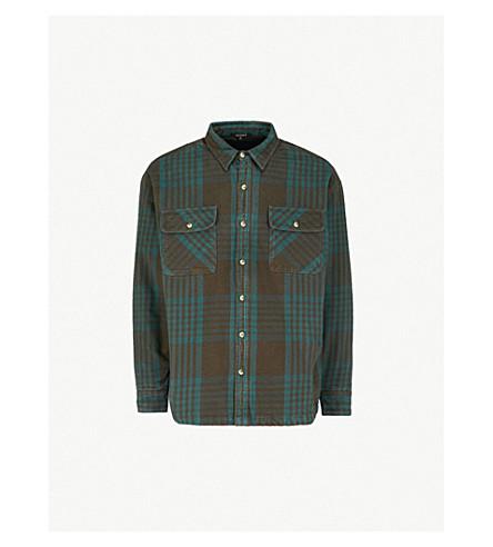 YEEZY 季 5 棉绒布衬衫 (蓝色