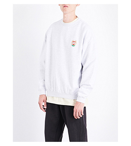 YEEZY Season 5 badge-detail cotton sweatshirt (Heather