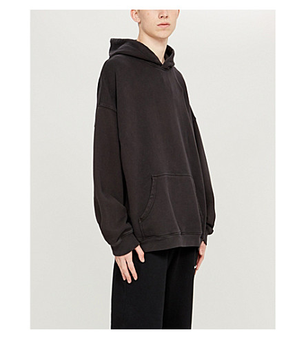 YEEZY Season 5 oversized cotton-jersey hoody (Ink
