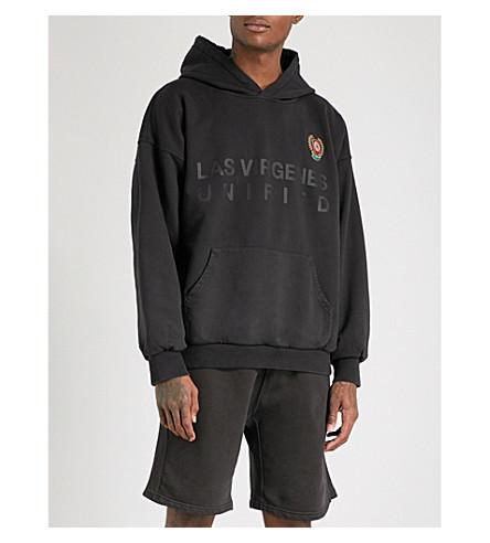 YEEZY Season 5 layered cotton-jersey hoody (Ash