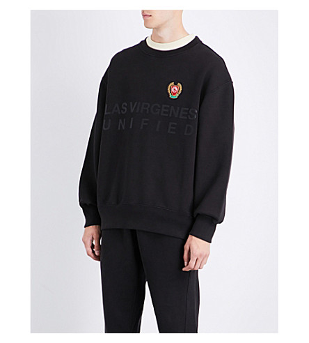YEEZY Season 5 Unified cotton-jersey sweatshirt (Ink